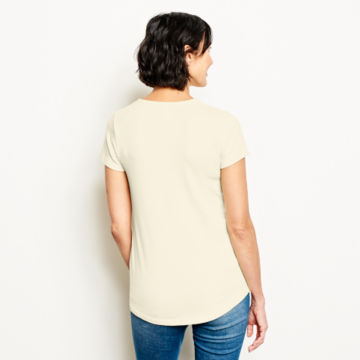 Relaxed V-Neck Short-Sleeved Perfect Tee -  image number 2