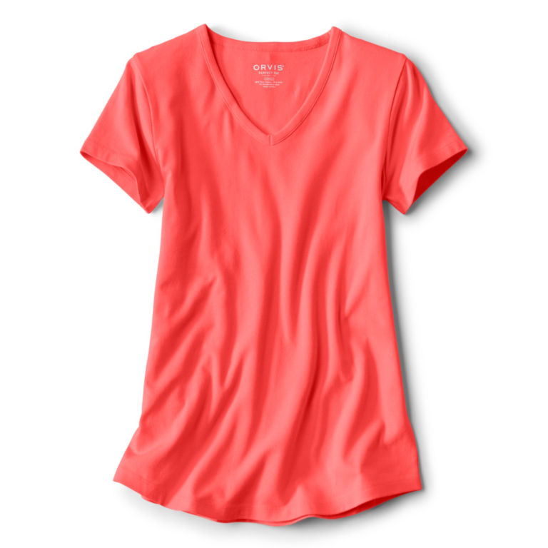 Relaxed V-Neck Short-Sleeved Perfect Tee -  image number 0