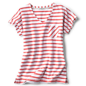 Classic Cotton Mixed Stripe Dolman Tee -  image number 5