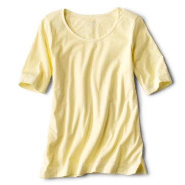 Sunwashed Scoopneck Elbow-Sleeved Tee -
