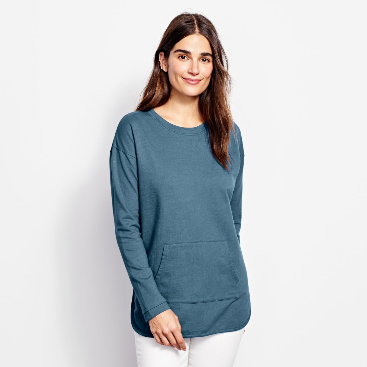 Heathered French Terry Tunic - image number 0