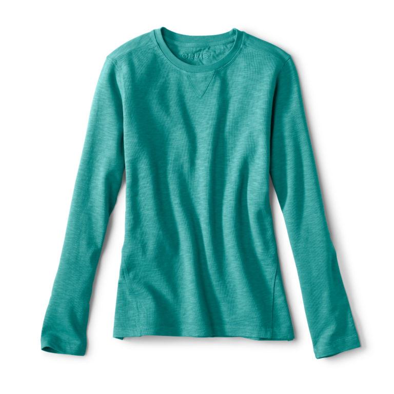 Sunwashed Crewneck Sweatshirt - TROPICAL BLUE image number 0