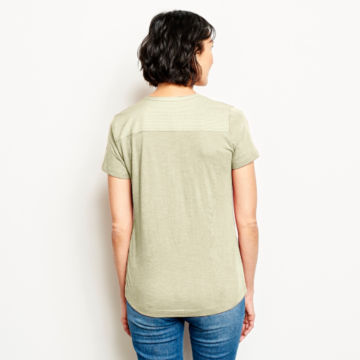 Moonlight Pines Button-Front Tee - ROSE MIST image number 3