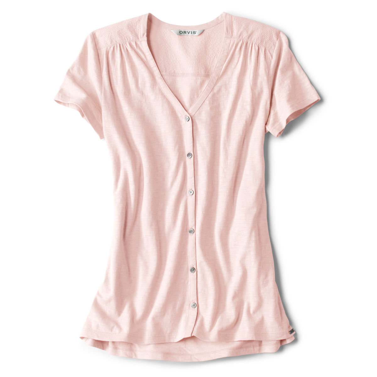 Moonlight Pines Button-Front Tee - ROSE MISTimage number 0