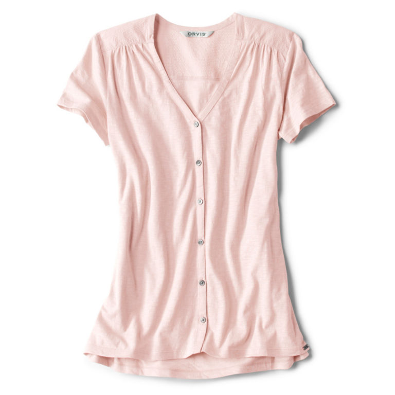 Moonlight Pines Button-Front Tee - ROSE MIST image number 0