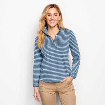 Stripe-And-Print Detail Sweatshirt -