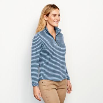 Stripe-And-Print Detail Sweatshirt -  image number 1