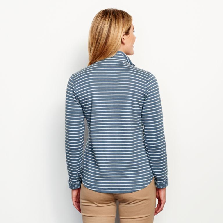 Stripe-And-Print Detail Sweatshirt -  image number 2