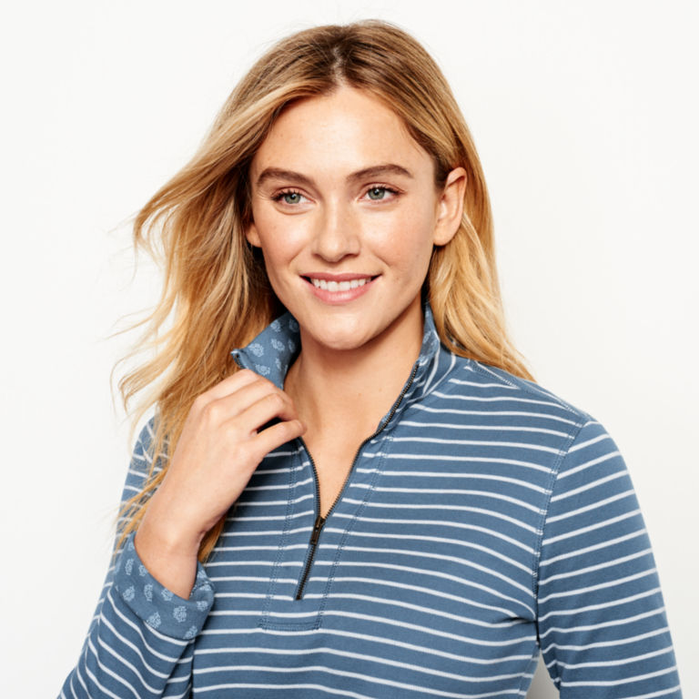 Stripe-And-Print Detail Sweatshirt -  image number 3