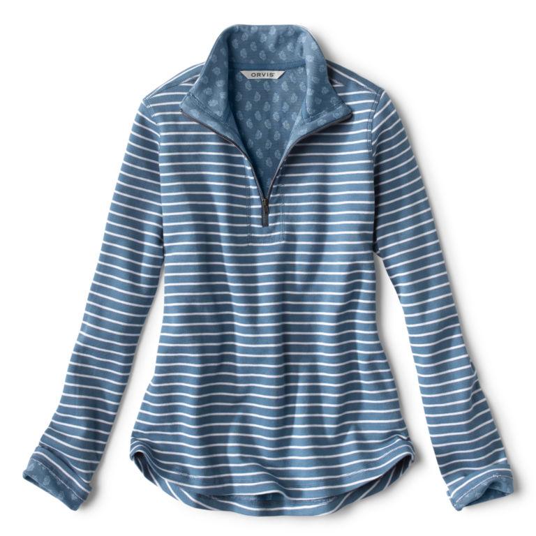 Stripe-And-Print Detail Sweatshirt -  image number 5