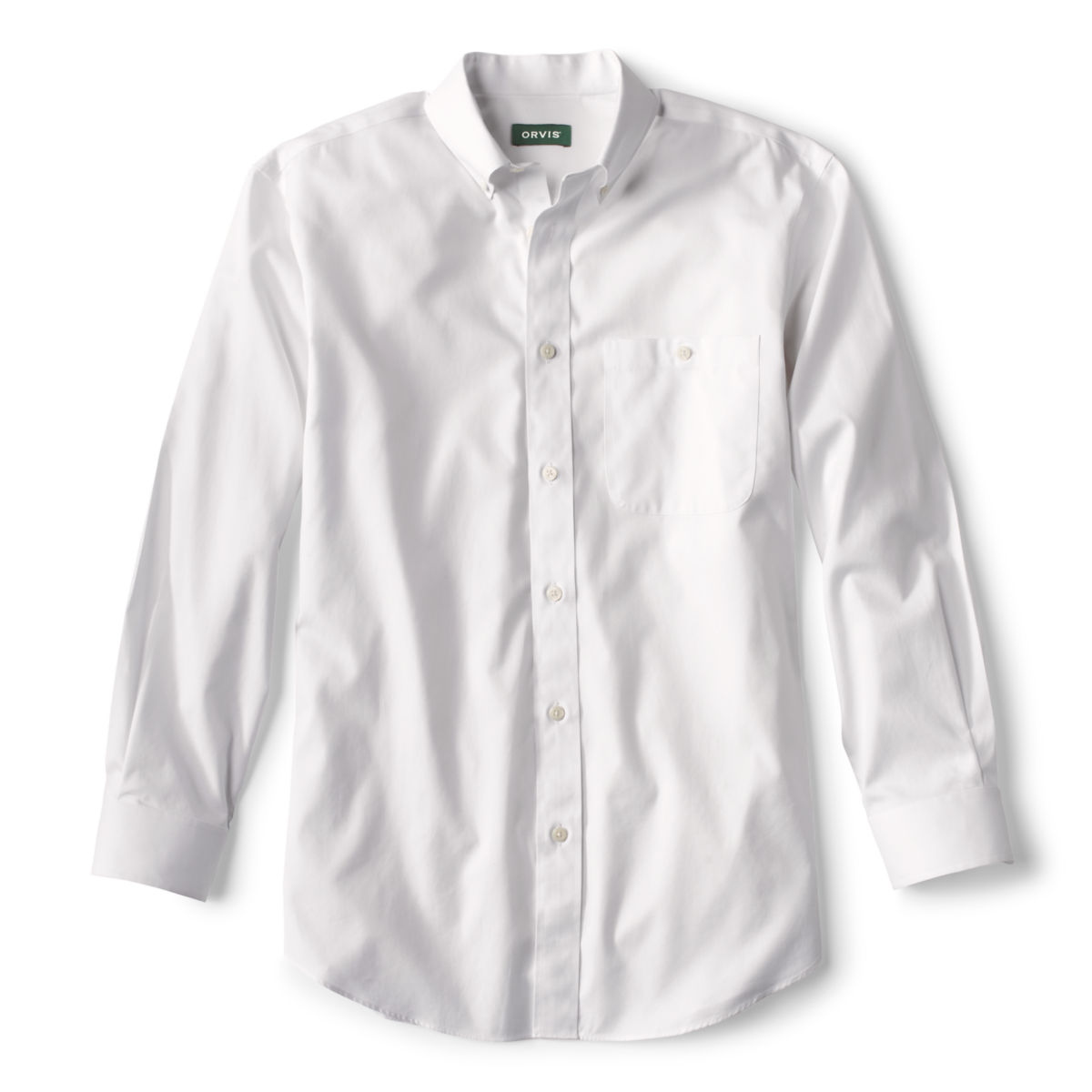 Pure Cotton Wrinkle-Free Pinpoint Oxford Long-Sleeved Shirt - WHITEimage number 0