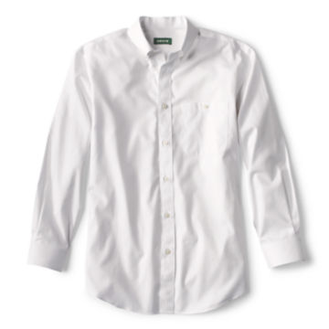 Pure Cotton Wrinkle-Free Pinpoint Oxford Long-Sleeved Shirt - WHITE image number 0