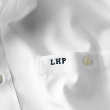 Pure Cotton Wrinkle-Free Pinpoint Oxford Long-Sleeved Shirt - WHITE image number 1