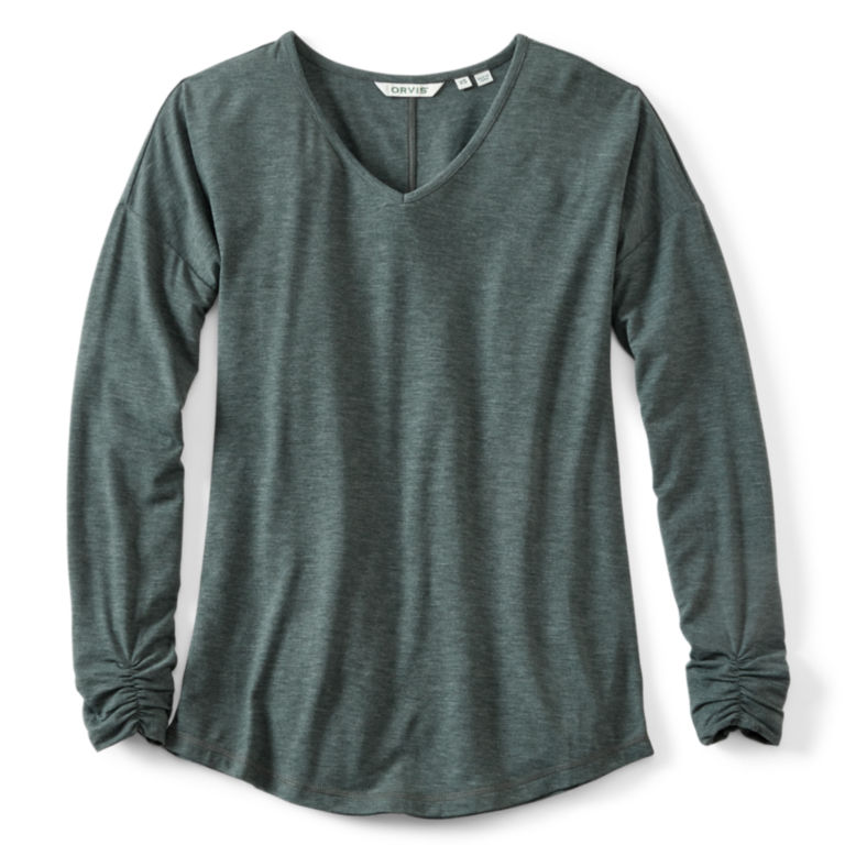 Champlain Long-Sleeved Tee - EVERGREEN HEATHER image number 0