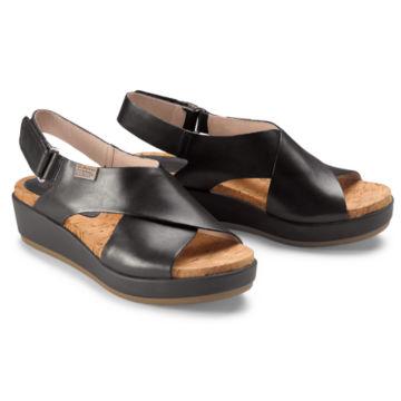 Pikolinos® Mykonos Platform Sandals - BLACK image number 0