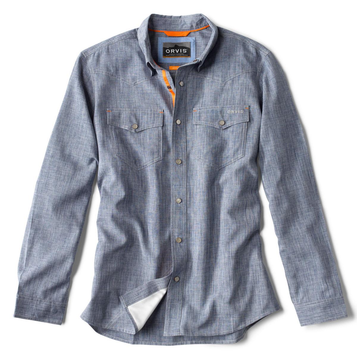 Tech Chambray Western Shirt - BLUE CHAMBRAYimage number 0