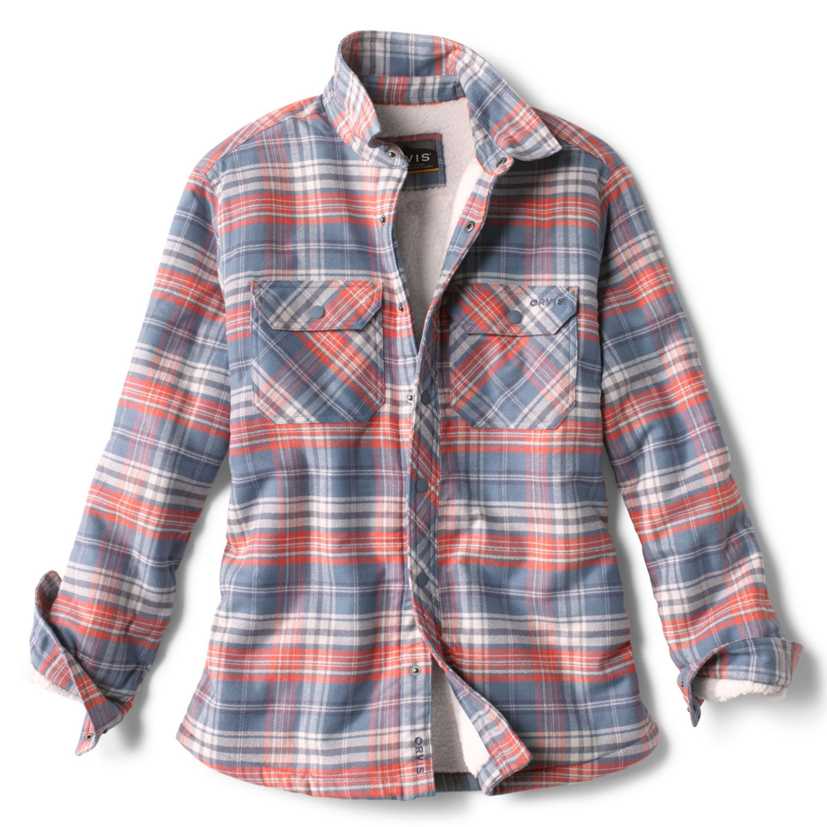 Smugglers' Notch Sherpa Shirt Jacket - LIGHT BLUE/PINKimage number 0