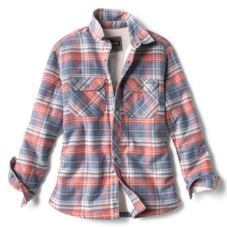 Smugglers' Notch Sherpa Shirt Jacket - LIGHT BLUE/PINK image number 0