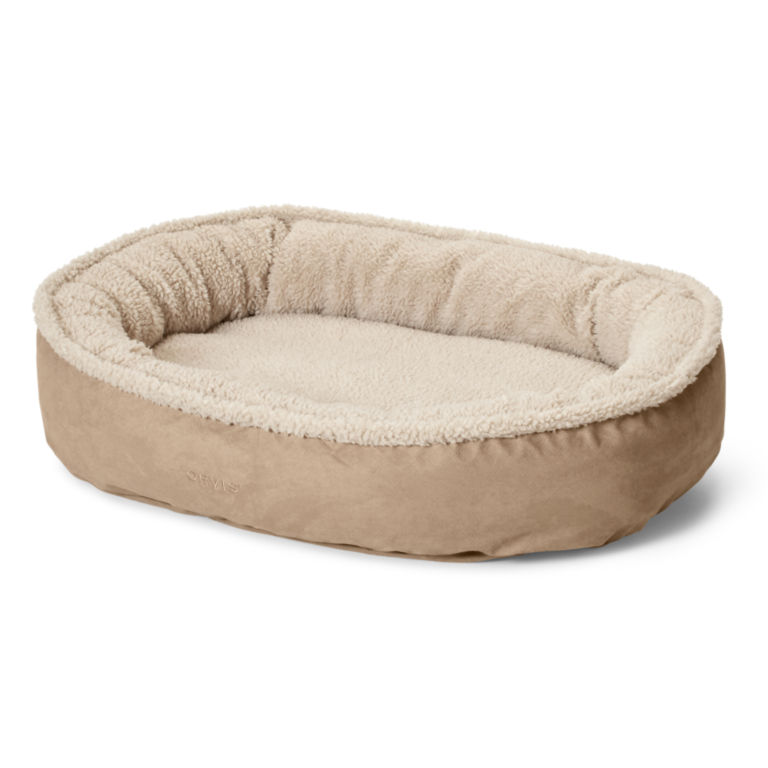 Orvis ComfortFill-Eco™ Wraparound Dog Bed with Fleece -  image number 1