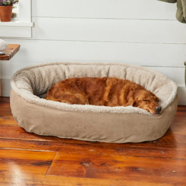 Orvis Memory Foam Wraparound Dog Bed with Fleece -