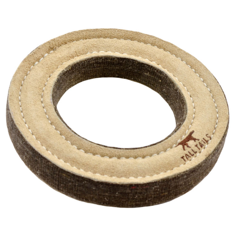 Tall Tails Leather Ring Dog Toy -  image number 0