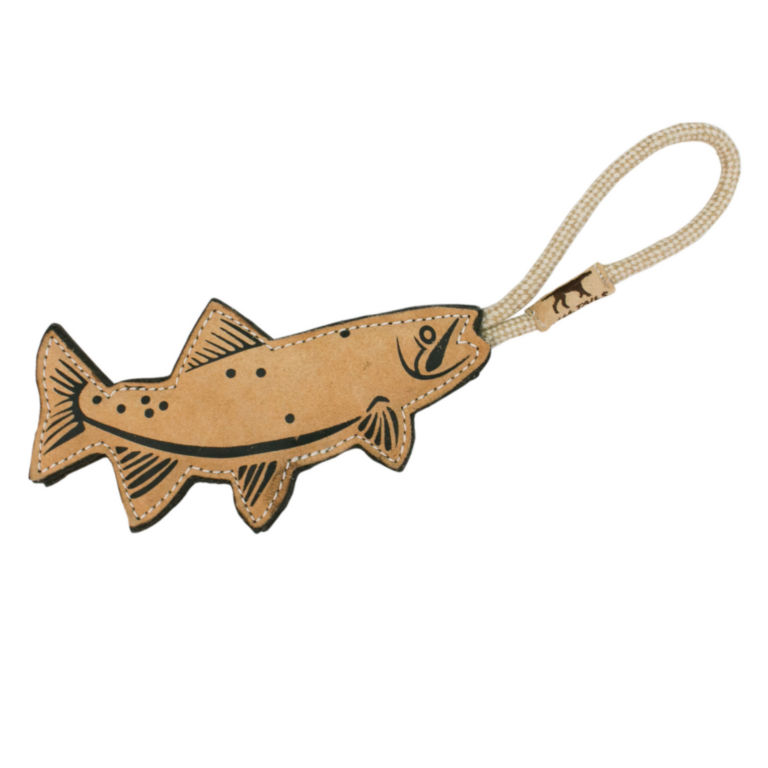 Tall Tails Leather Trout Dog Toy -  image number 0