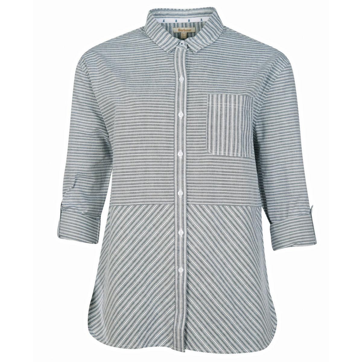 Barbour® Longshore Shirt - CLOUD/NAVYimage number 0