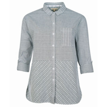 Barbour® Longshore Shirt - CLOUD/NAVY image number 0