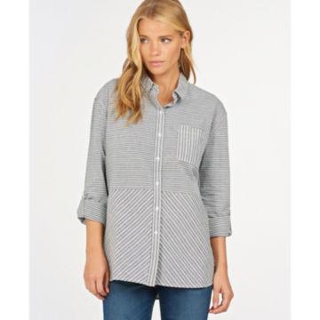 Barbour® Longshore Shirt - CLOUD/NAVY image number 1