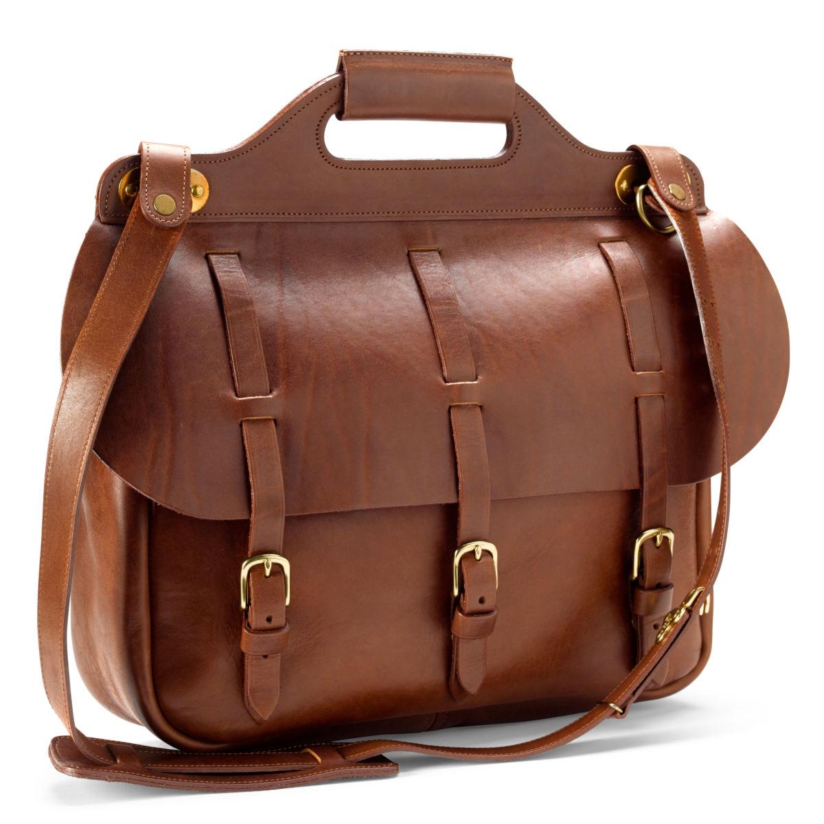 No. 1 Saddle Briefcase - BROWNimage number 0