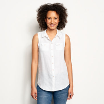 Lightweight Linen Sleeveless Shirt -