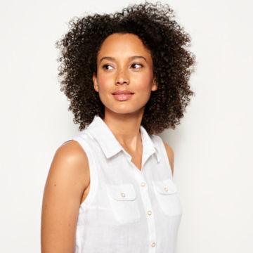 Lightweight Linen Sleeveless Shirt -  image number 3