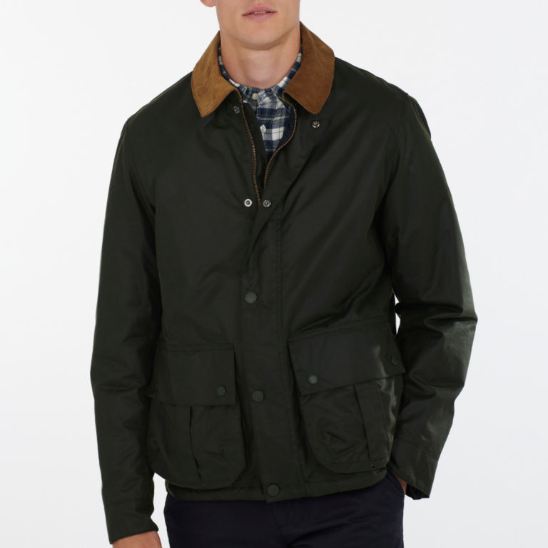Barbour® Allund Waxed Cotton Jacket - FOREST image number 1