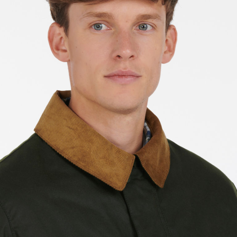 Barbour® Allund Waxed Cotton Jacket - FOREST image number 3