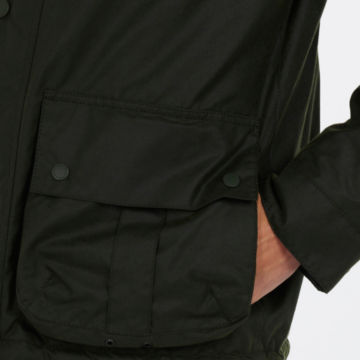 Barbour® Allund Waxed Cotton Jacket - FOREST image number 4