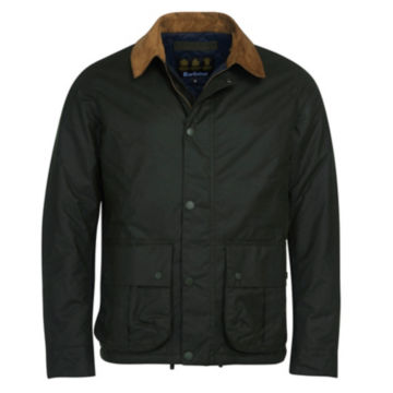 Barbour® Allund Waxed Cotton Jacket - FOREST image number 0