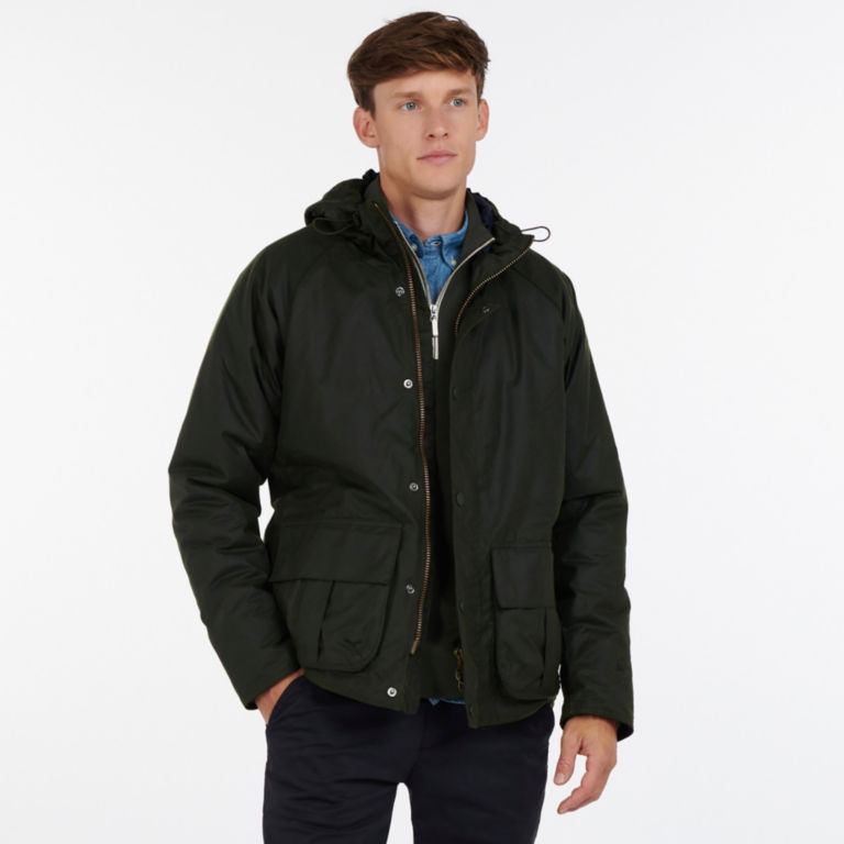 Barbour® Harrow Waxed Cotton Jacket - FOREST image number 5