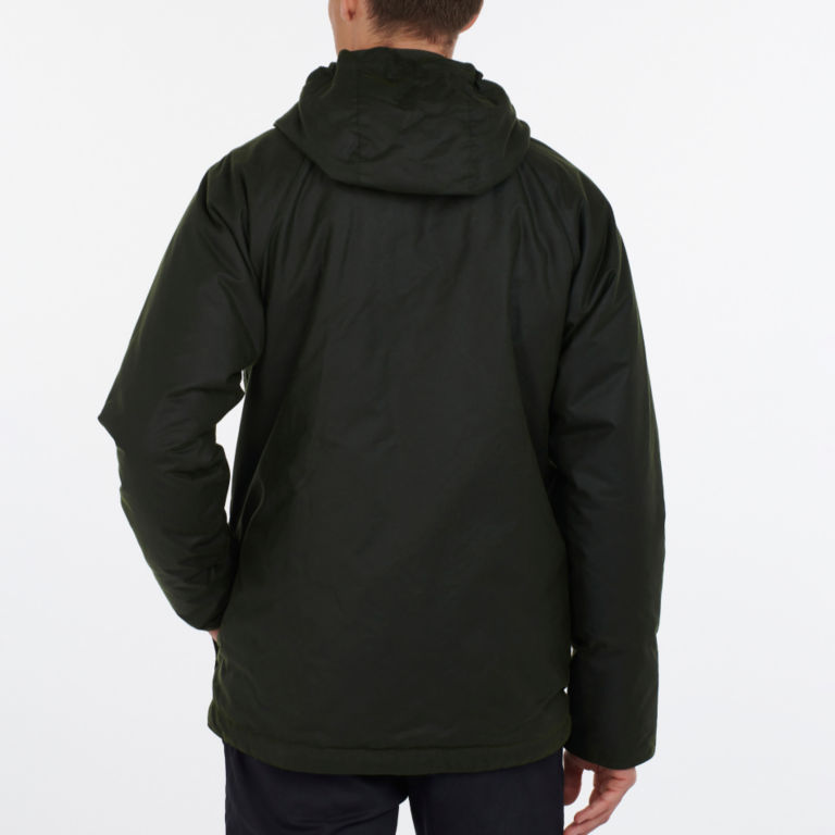 Barbour® Harrow Waxed Cotton Jacket - FOREST image number 2