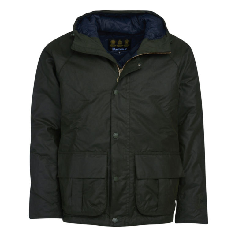 Barbour® Harrow Waxed Cotton Jacket - FOREST image number 0