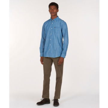 Barbour® Chambray 1 Tailored Shirt - CHAMBRAY image number 4
