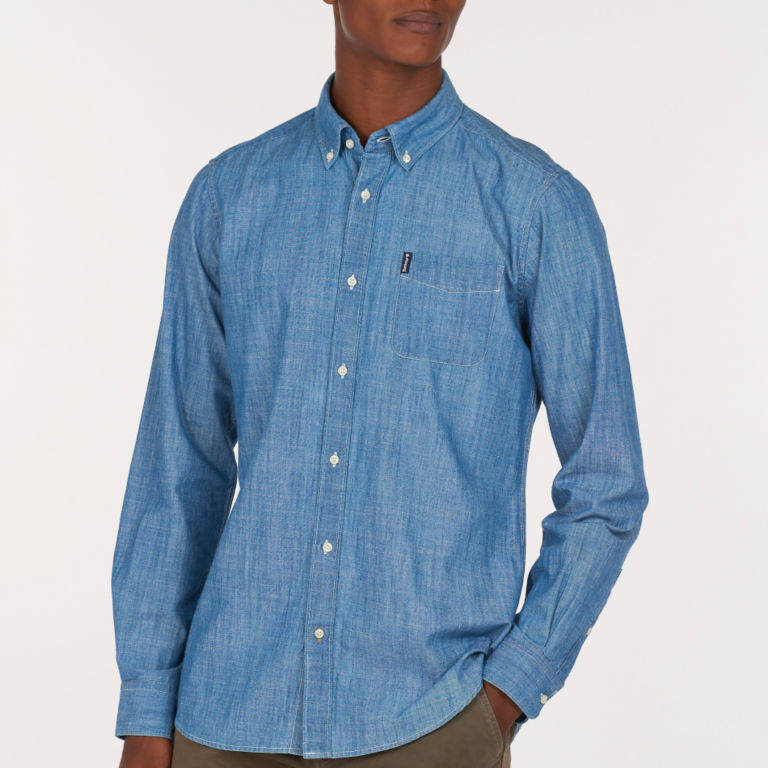 Barbour® Chambray 1 Tailored Shirt - CHAMBRAY image number 1