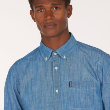 Barbour® Chambray 1 Tailored Shirt - CHAMBRAY image number 3