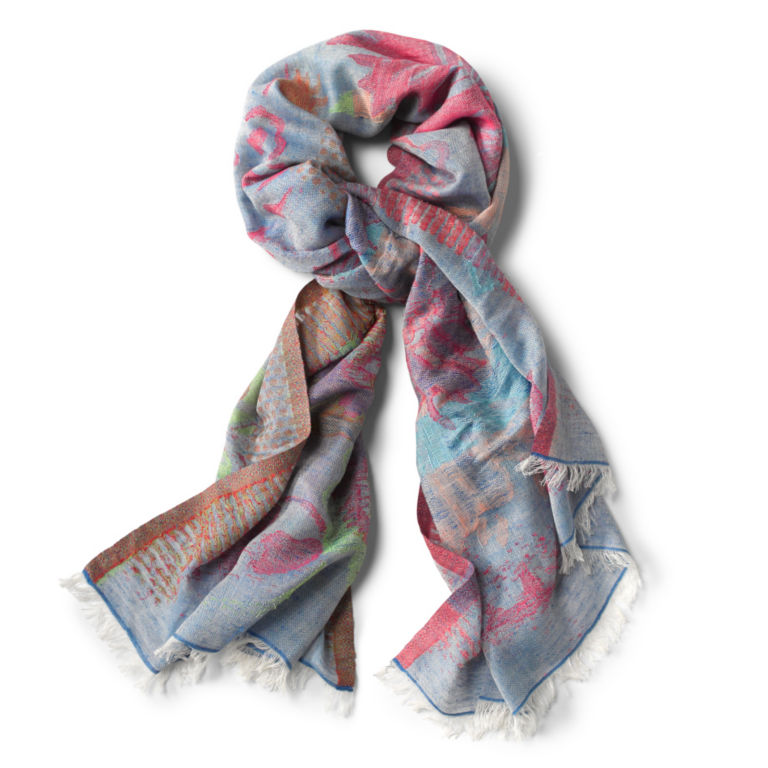 Exploded Floral Jacquard Scarf -  image number 0