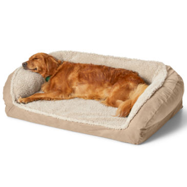 Orvis AirFoam Bolster Dog Bed with Fleece -