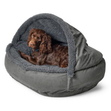 Memory Foam Burrower Bed with Fleece -