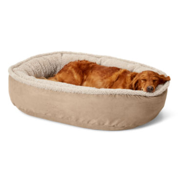 Orvis AirFoam Wraparound Dog Bed with Fleece -