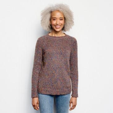 Marled Stitch Roll Neck Sweater -