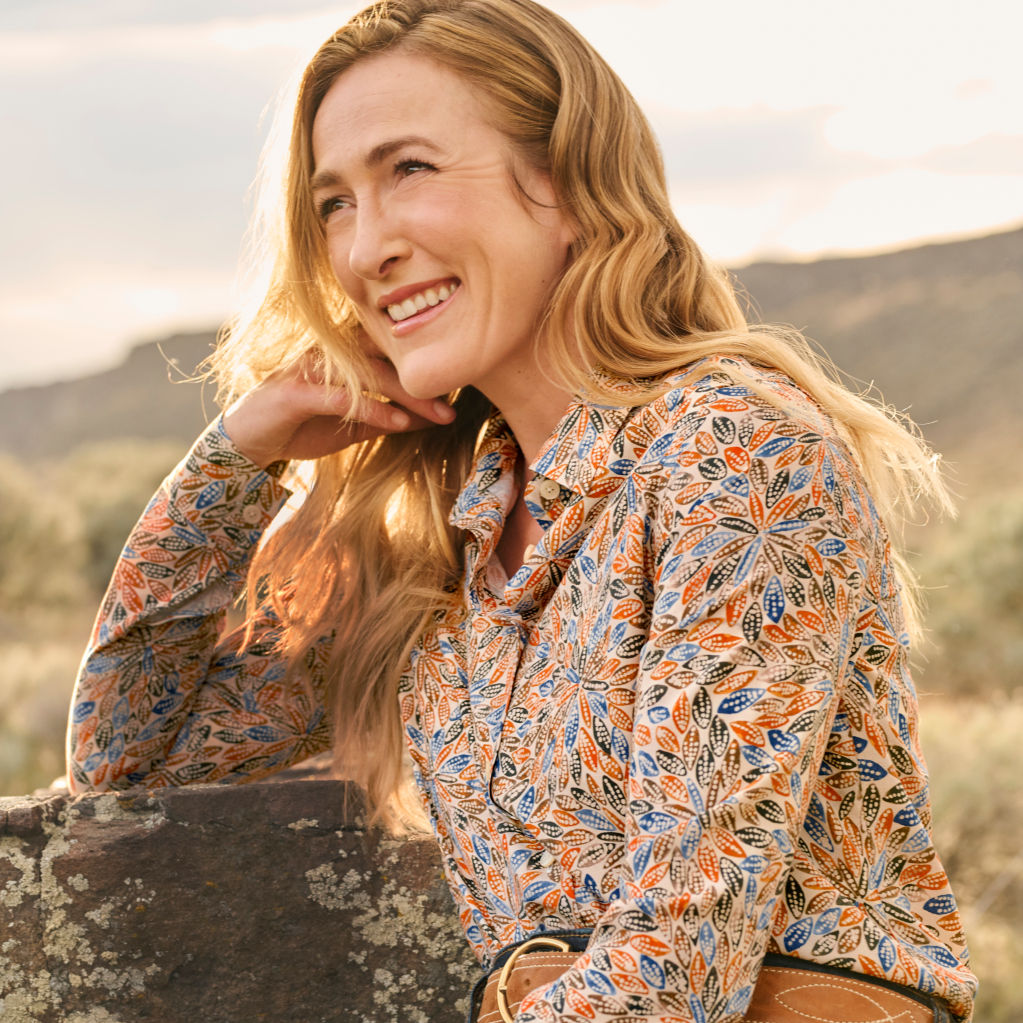 Jillian posing in the desert