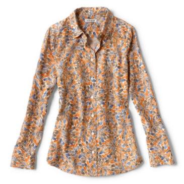 Long-Sleeved Everyday Silk Shirt - SPICE MULTI