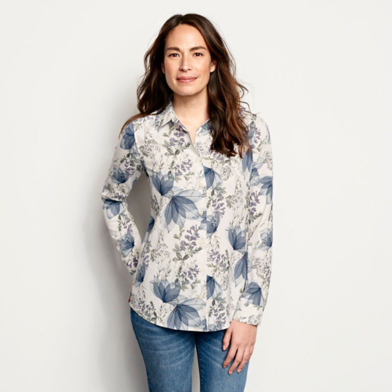 Long-Sleeved Everyday Silk Shirt -  image number 0